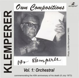 ARC-WU 149 Klemperer Compositions Vol.1: Orchestral